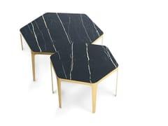 Tavolino esagonale in ceramicaPANORAMA | Tavolino - BONALDO