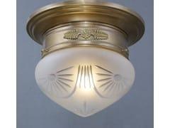 Lampada da soffitto fatta a mano in ottonePAPA 20/4 - PATINAS LIGHTING