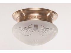 Lampada da soffitto fatta a mano in ottonePAPA 30/4 - PATINAS LIGHTING