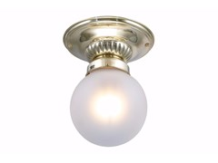 Lampada da soffitto fatta a mano in ottonePAPA 8/21 - PATINAS LIGHTING