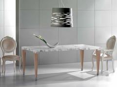Tavolo rettangolare in marmo Calacatta PAPAGIN   Tavolo - Contemporary
