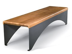 Panchina in acciaio e legnoPAPER | Panchina in acciaio e legno - N23 S.R.L. US