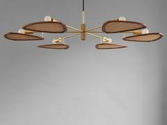 Lampada a sospensione a LED in rattan e alluminioPAPILLION COLONIAL - 101 COPENHAGEN