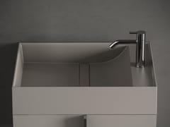 Lavamani da appoggio rettangolare in Solid SurfacePARAL | Lavamani - INBANI