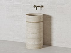 Lavabo freestanding rotondo in pietra naturalePARALLEL PS45 | Lavabo rotondo - THE DAVANI GROUP