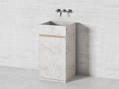 Lavabo freestanding quadrato in pietra naturalePARALLEL PS45 | Lavabo quadrato - THE DAVANI GROUP
