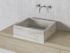 Lavabo quadrato in pietra naturalePARALLEL VS45L | Lavabo quadrato - THE DAVANI GROUP