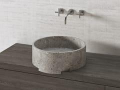 Lavabo rotondo in pietra naturalePARALLEL VS45L | Lavabo rotondo - THE DAVANI GROUP