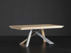 Tavolo da pranzo rettangolare in legno massello PARIGI + METAL/LEGNO - ECOLAB 2
