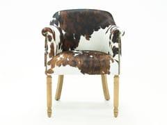 Sedia in pelle di mucca con braccioliPARIS CREARTE | Sedia in pelle di mucca - CREARTE COLLECTIONS