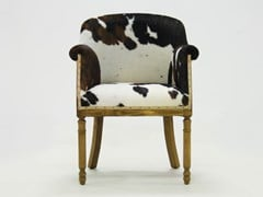 Sedia in pelle di mucca con braccioliPARIS ESSENCE | Sedia in pelle di mucca - CREARTE COLLECTIONS