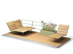 VESTRE, PARKLETS 2.0 COSY Panchina in legno