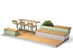VESTRE, PARKLETS 2.0 CAFÉ Panchina in legno