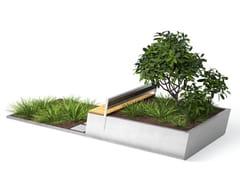 VESTRE, PARKLETS 2.0 FOREST Panchina in legno con fioriera integrata
