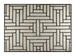 Tappeto fatto a mano rettangolare a motivi geometriciPARQUET - ROCHE BOBOIS