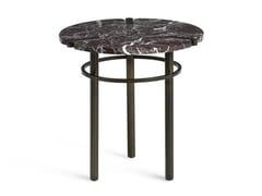 Tavolino di servizio rotondo in marmo PASEO | Tavolino -