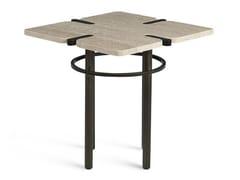 Tavolino di servizio quadrato in marmo PASEO | Tavolino -