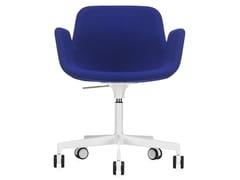 Sedia ufficio operativa ad altezza regolabile in tessuto a 5 razze PASS | Sedia ufficio operativa ad altezza regolabile - PASS