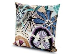 Cuscino in raso di cotone stampato a fioriPASSIFLORA GIANT | Cuscino - MISSONI HOME