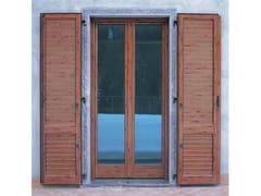 Porta-finestra a battente in alluminio e legno con triplo vetroPASSIVE 120 | Porta-finestra a battente - CARMINATI SERRAMENTI