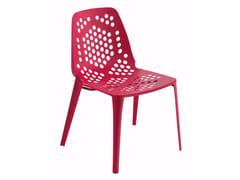 Sedia da giardino impilabile in acciaio PATTERN | Sedia - Pattern