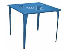 Tavolo da giardino quadrato in acciaio PATTERN | Tavolo quadrato - Pattern