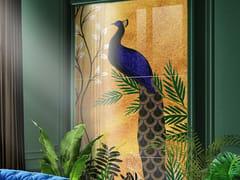 Pannello decorativo in vetro temperatoPAVONE - TECNOTELAI