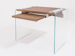 Scrivania rettangolare in legno e vetro per pcSOSPESA | Scrivania per pc - PAGLIERI VETRI PER COSTRUIRE