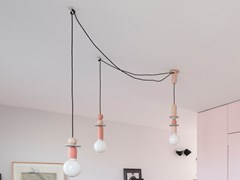 LAMPADA A SOSPENSIONE A LED IN PORCELLANAPEARLS CHANDELIER MEDIUM - NEU/ZEUG DESIGN