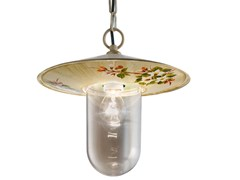 Lampada a sospensione per esterno in ceramicaGENOVA | Lampada a sospensione per esterno - FERROLUCE