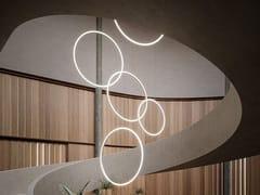 LAMPADA A SOSPENSIONE A LED IN ALLUMINIOCIRCULAR VERTICAL | LAMPADA A SOSPENSIONE - GROK