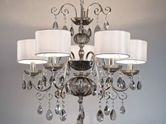 Lampadario a luce diretta in metallo con cristalli ANTIKA 5 - Antika