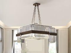 Lampada a sospensione a LED in Cristallo al piomboDIAMANTE | Lampada a sospensione - PATRIZIA VOLPATO