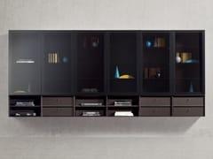 Parete attrezzata modulare in legno e vetroPEOPLE 04 - PIANCA