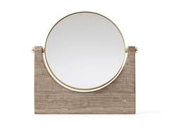 Specchio basculante da tavolo in marmoPEPE MARBLE MIRROR - MENU