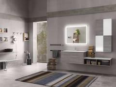 Sistema bagno componibilePERFETTO - Composizione 2 - INDA®