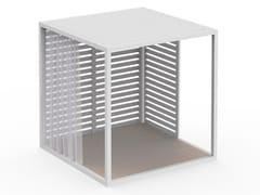 Pergolato autoportante in alluminio termolaccatoPERGOLAS MODULO 1 PAVIMENTO 246x246 - GANDIA BLASCO