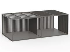 Pergolato autoportante in alluminio termolaccatoPERGOLAS MODULO 2 PAVIMENTO 360x712 - GANDIA BLASCO