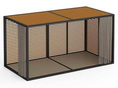 Pergolato autoportante in alluminio termolaccatoPERGOLAS MODULO 6 PAVIMENTO 246x484 - GANDIA BLASCO