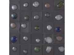 Mosaico in vetroPERLE | Grafite mix Dots - NEROSICILIA GROUP