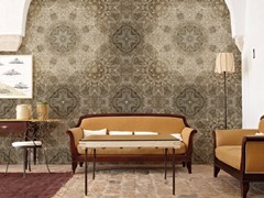 Carta da parati geometrica optical panoramica in fibra di vetro EQ Dekor in stile moderno PERSIAN SAND - Collection 2015