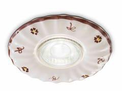 Faretto rotondo in ceramica da incassoPESCARA | Faretto da incasso - FERROLUCE