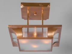 Lampada da soffitto a luce diretta fatta a mano in ottone PETITOT IV | Lampada da soffitto - Petitot