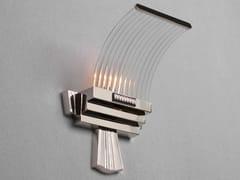 Applique a luce diretta fatta a mano in metallo in stile classico PETITOT XV | Applique in nichel - Petitot