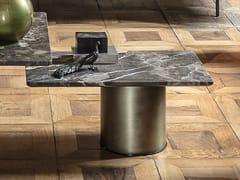 Tavolino rettangolare in marmo PETRA | Tavolino rettangolare -