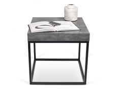 Tavolino di servizio quadrato PETRA | Tavolino quadrato -