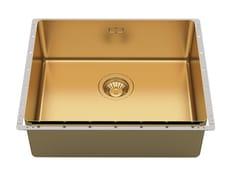 Lavello da incasso in acciaio inoxPHANTOM EDGE 50X40 GOLD - FOSTER