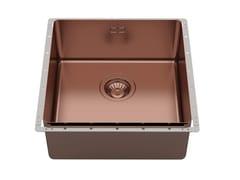 Lavello da incasso in acciaio inoxPHANTOM EDGE 40X40 COPPER BRONZE VINTAGE - FOSTER