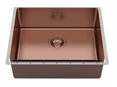 Lavello da incasso in acciaio inoxPHANTOM EDGE 50X40 COPPER BRONZE VINTAGE - FOSTER