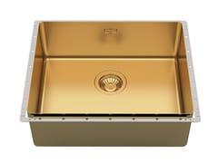 Lavello da incasso in acciaio inoxPHANTOM EDGE 50X40 GOLD VINTAGE - FOSTER